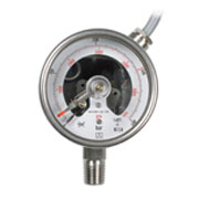 Magnetic snap-action contact pressure gauges